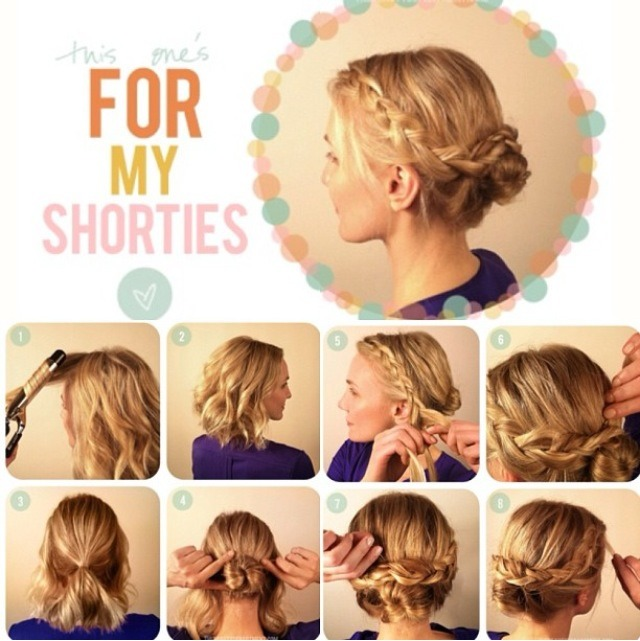Hairstyles For Short Hair Easy And Quick : Short Story: An Updo Tutorial For Short Hair Trusper