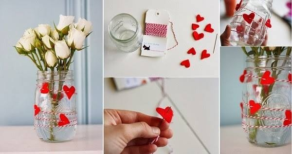 Diy Flower Vas For Valentines Day