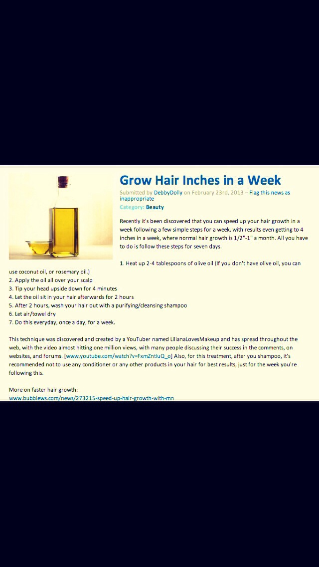 Grow Hair Inches in a Week