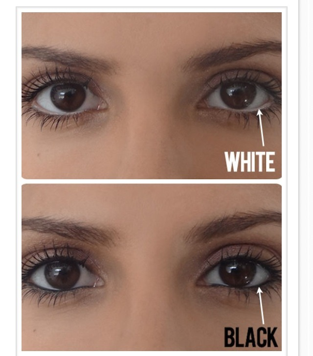 how to make eyes appear bigger with eyeliner