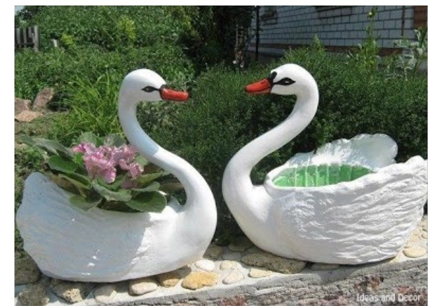 """ Turn Plastic Bottle To Pot Planter As A Swan""🙊"