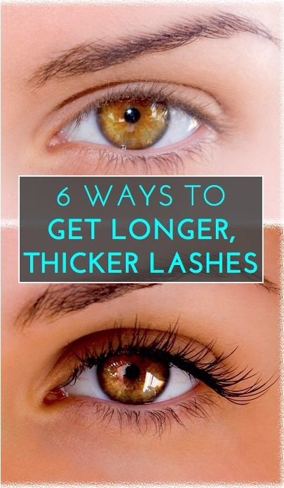 6 Way To Get Longer, Thicker Lashes :)