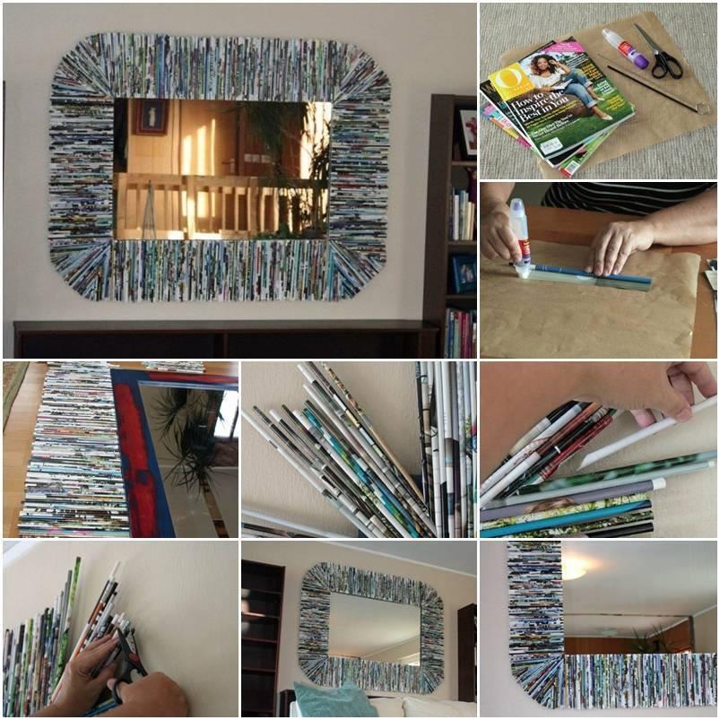 Magazine paper wall art trusper - Magazine wall decor ...