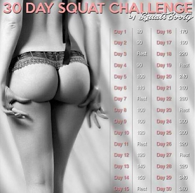 DID YOU KNOW 30 Day Squat Challenge: Perfect Booty Workout