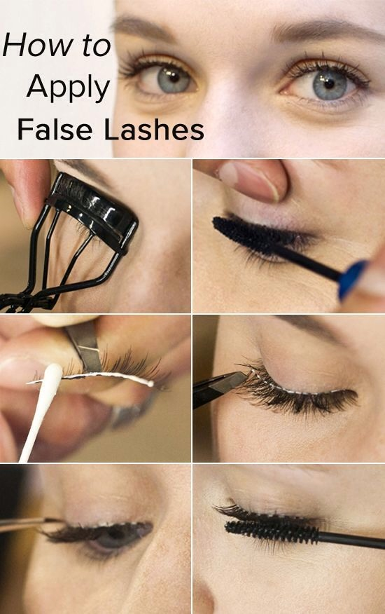 How To Apply False Eyelashes.