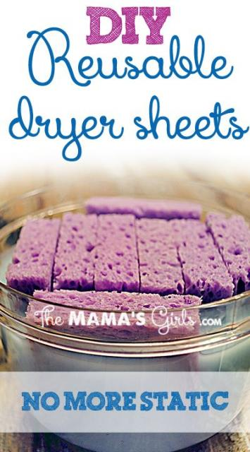 DIY Reusable (!) Dryer Sheets!