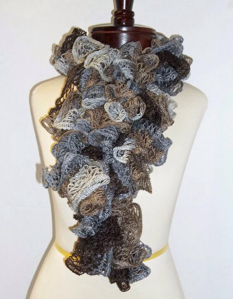 how to make a ruffle scarf trusper