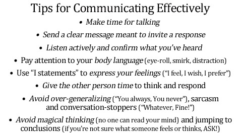 Communication Tips
