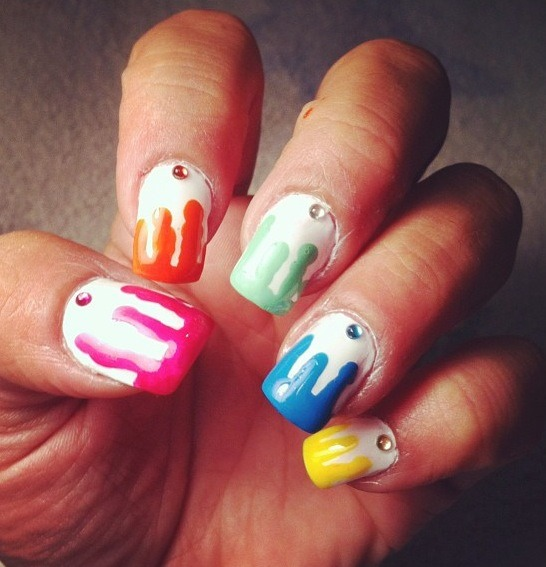 Toothpick Nail Art Designs: Five Toothpick Nail Art Designs