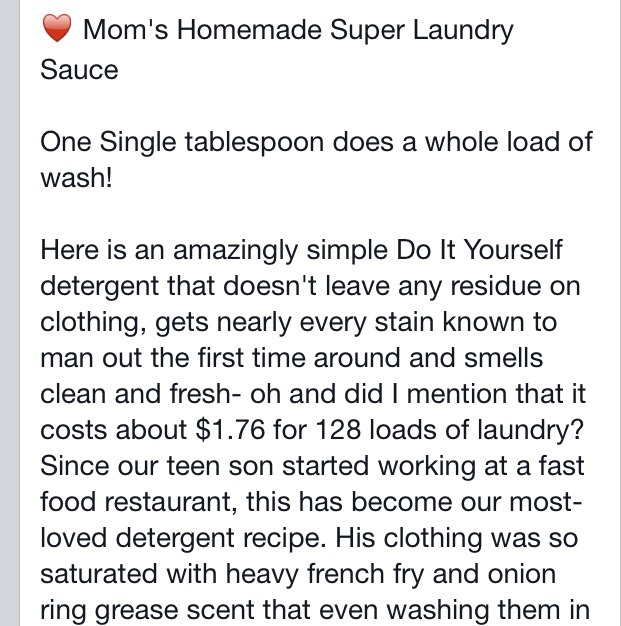 Mom's Super Laundry Sauce