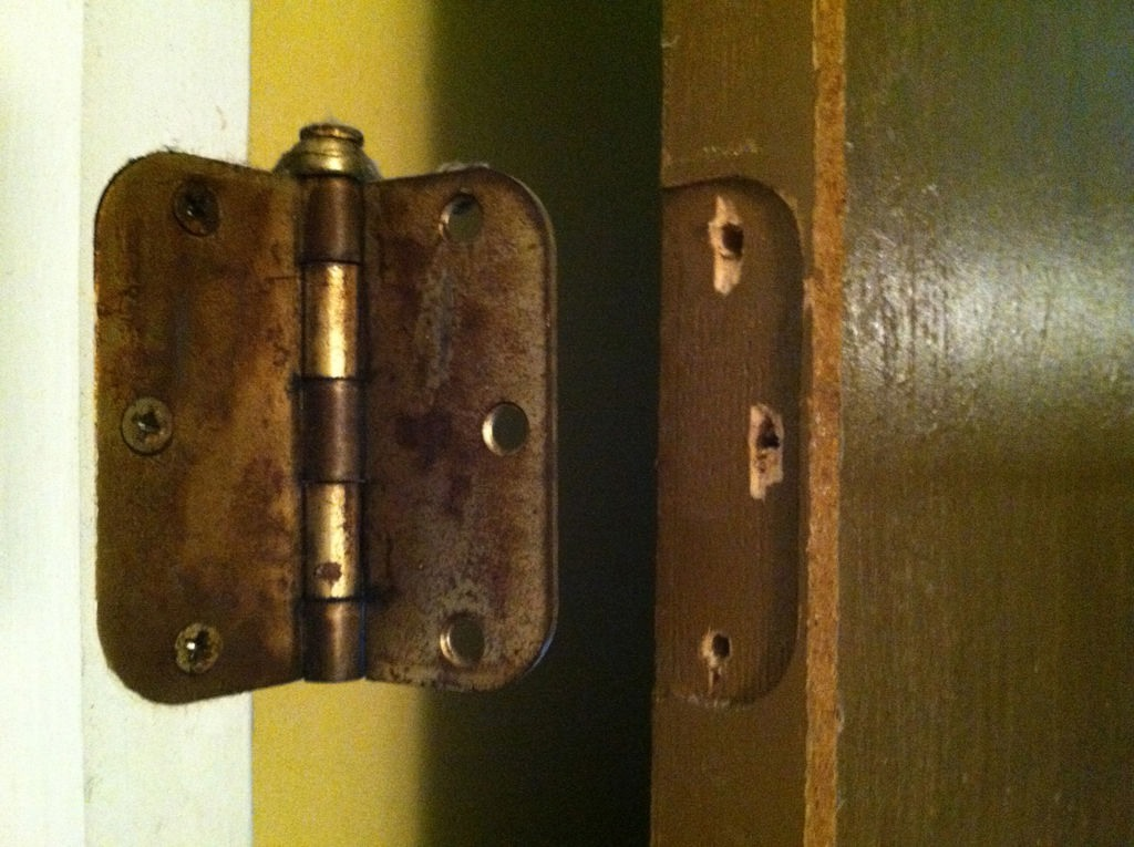Stripped Screw Holes On A Door Hinge Trusper