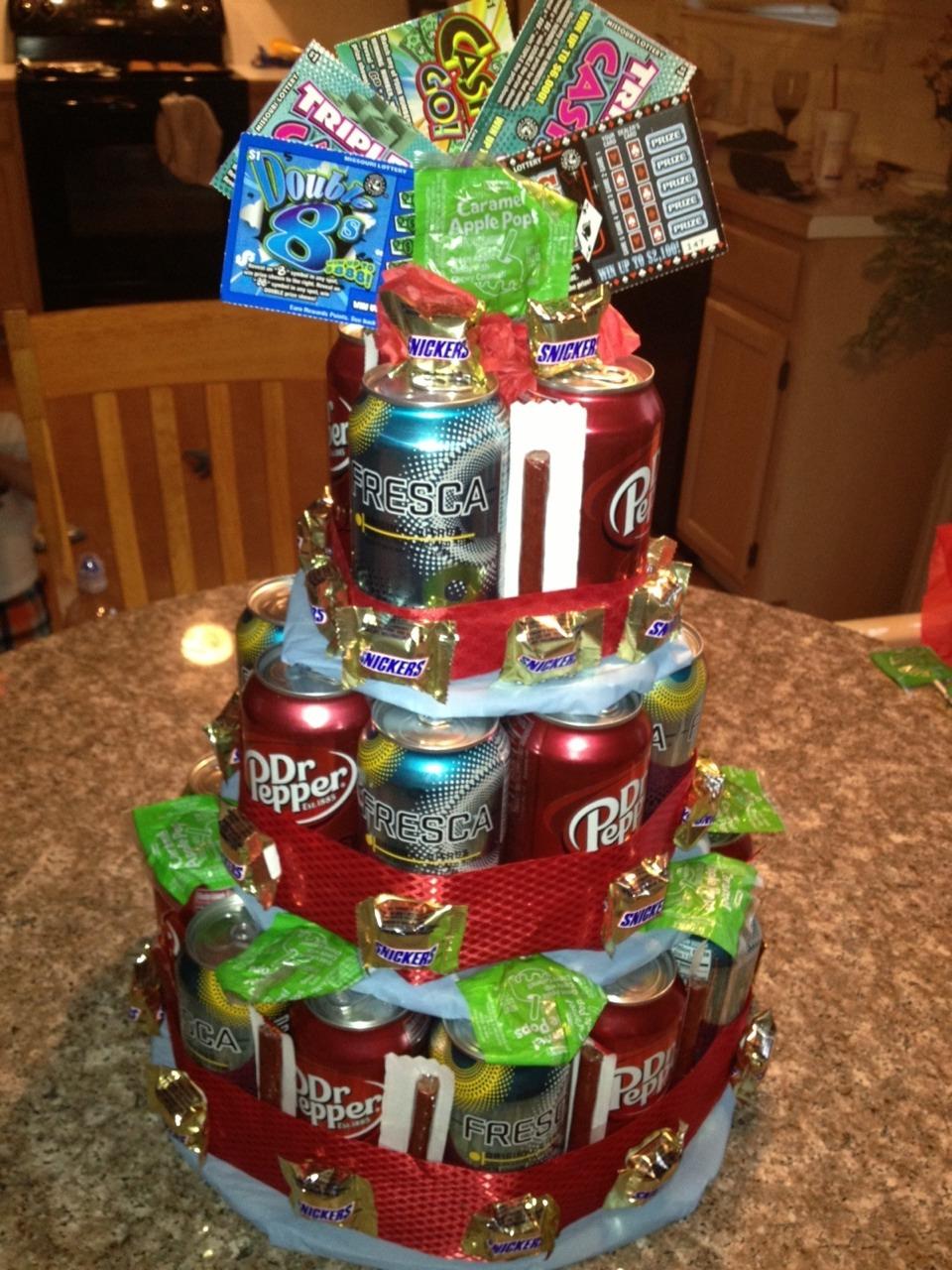 Подарок на день рождения торт из пива