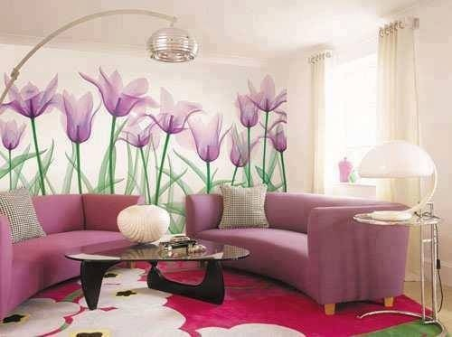 Paint Flower On Your One Wall Of Room It's Cool ;)