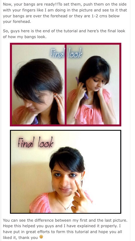 how to cut side swept bangs yourself