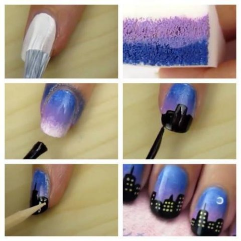 Ombre City Nail Art Tutorial