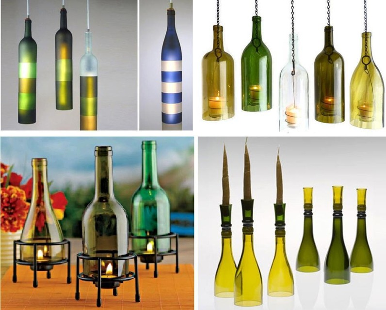 Decorate with empty wine bottles and unused vases trusper for Diy empty wine bottles