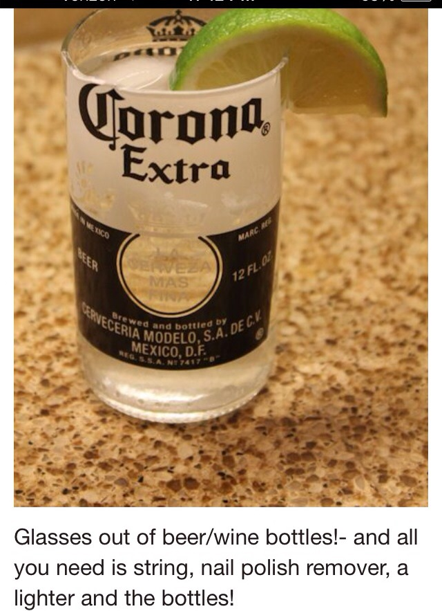 Turn your beer bottles into glass cups 5 easy steps for Glasses made out of bottles